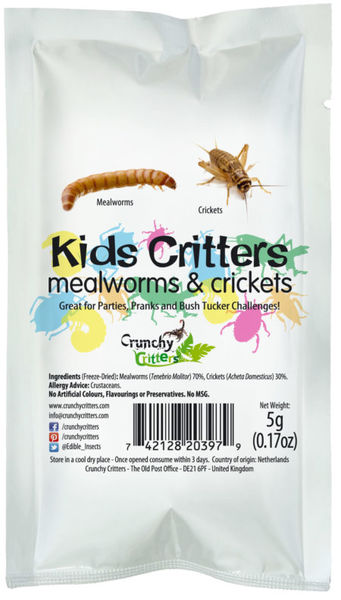 Kids Critters - Mealworms & Crickets (5g) - SOLD OUT!